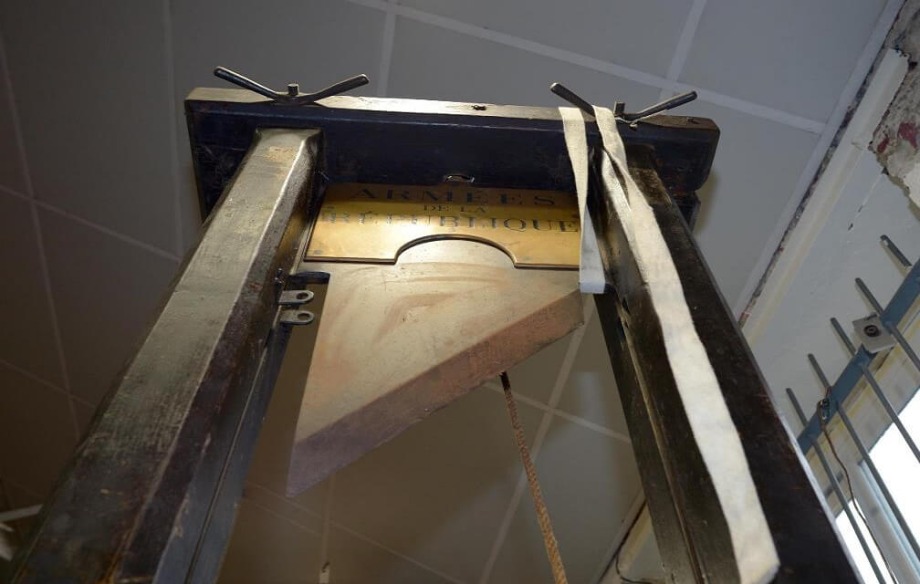 150-year-old French guillotine replica.