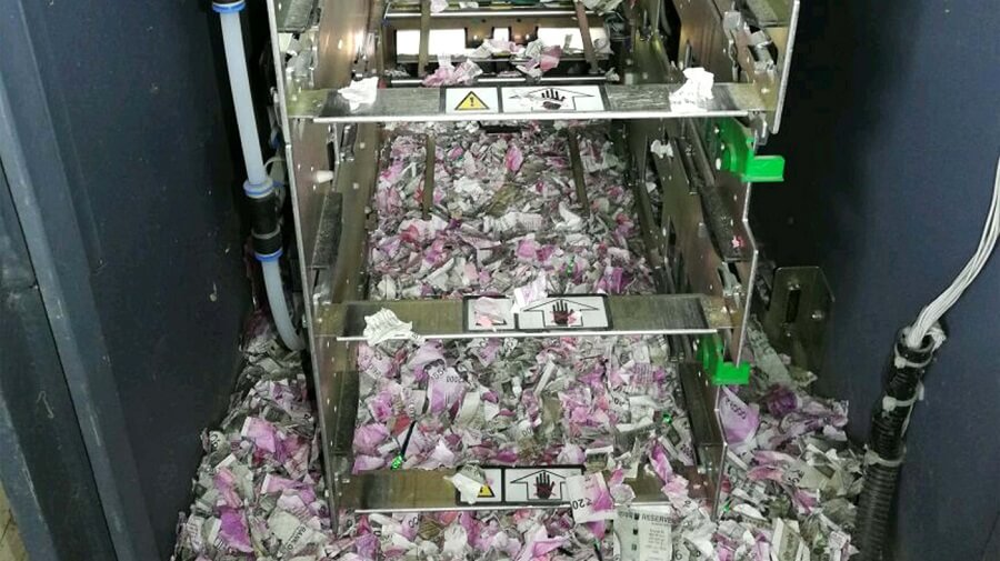 Inside the ATM where a rat shredded almost $18,000 worth of Indian rupee notes